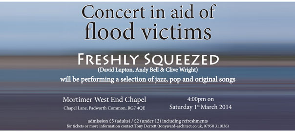 Concert in aid of flood victims - Freshly Squeezed